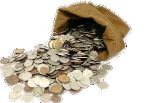 Znalezione obrazy dla zapytania pieniądze worek